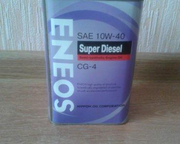 ENEOS Super Diesel 10W-40 API CG-4 полусинтетическое масло