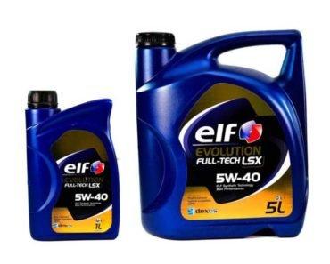 Elf Evolution Full-Tech LSX 5W-40 синтетическое масло