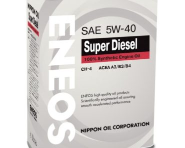 ENEOS Super Diesel 5W-40 CH-4 синтетическое масло