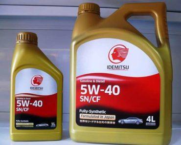 Idemitsu 5W-40 SN/CF синтетическое масло
