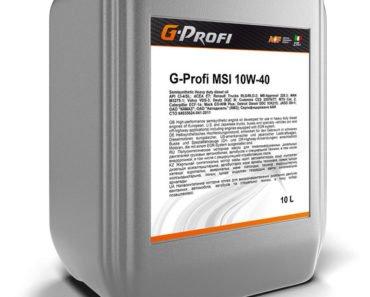 G-Profi MSI 10W-40 полусинтетическое масло